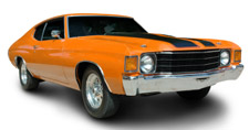An orange Chevy Chevelle