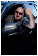 An angry motorist