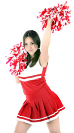A young cheerleader