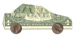 A car made of money